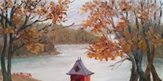 The First Cold Day by Sharon Allen oil plein air ~ 6 x 12