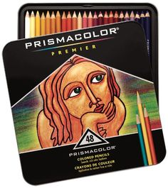 Sanford Prismacolor Premier Colored Pencil Set, 48/Tin (japan import):  son de México y los importan de Japón...uf! Los quiero.