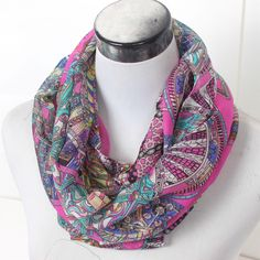 Lavender Silk Infinity Scarf