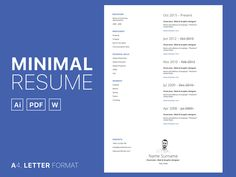 Free simple cv set template in multiple file gormat. This CV set contain minimal resume in AI, DOC and PDF file format. The template can be easily customized to your. Simple Cv Template, Resume Template Free, Free Resume, Curriculum Vitae Template, File Format, Minimal, Free Resume Format
