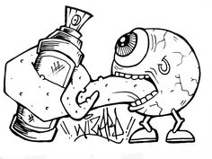 free graffiti coloring pages grafiti new most graffiti sketches graffiti coloring pages coloring graffiti free Graffiti Doodles, Graffiti Drawing, Street Art Graffiti, Wizard Graffiti, Dragon Coloring Page, Coloring Book Art, Coloring Pages, Doodle Monster, Monster Drawing