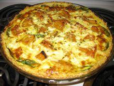 butternut, spinach and feta quiche