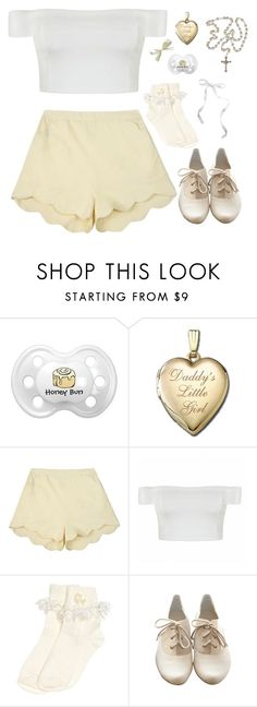 """cream"" by naughty-nymphets ❤ liked on Polyvore featuring Samantha Pleet, Ally Fashion, Monsoon, Slow and Steady Wins the Race, little and nymphet"