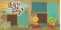 Beach Day Page Kit-Out on Limb Scrapbooking