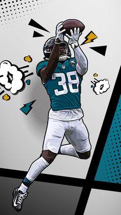 Funny Nfl, Lawrence Taylor, Sports Drawings, Sports Graphic Design, Super Funny Videos, Football Uniforms, Football Art, Football Wallpaper, Jacksonville Jaguars