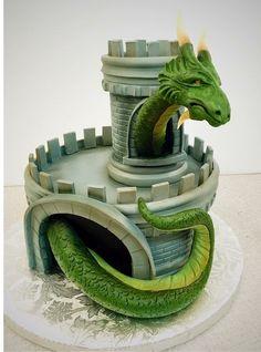 Dragon in a castle