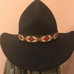 f4d33364a69 Custom rolling thunder beaded hat band Beaded Hat Bands