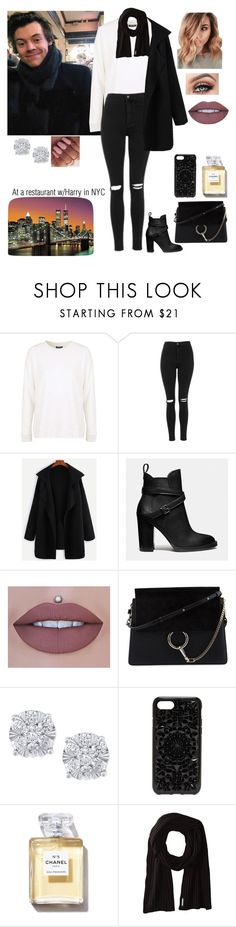 """""""At a restaurant w/Harry in NYC"""" by tiffany-london-1 ❤ liked on Polyvore featuring Topshop, Coach, Chloé, Effy Jewelry, Felony Case, Soia & Kyo and Brewster Home Fashions"""