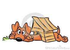 Dog long booth dachshund cartoon illustration   isolated image animal character