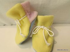 Baby Booties by SewManyBooties on Etsy, $10.00
