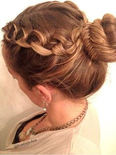 Hairstyles For Short Hair Using Bumpits : Fishtail braids, Updo and Fishtail on Pinterest