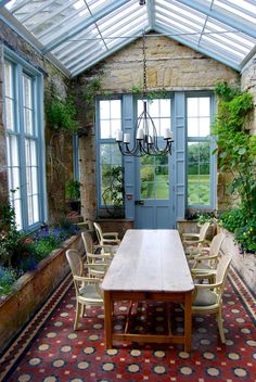 Sunroomconservatory At Balfour Castle The Most Northerly Castle In The World. It Is Located On The South West Of The Island Of Shapinsay In Orkney, Scotland. Building Commenced In 1847 And Completed In Photograph: Outdoor Spaces, Outdoor Living, Outdoor Decor, Glass House Design, Home Greenhouse, Greenhouse Ideas, Simple Greenhouse, Homemade Greenhouse, Portable Greenhouse