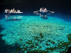 Melissani meer op Kefalonia in Griekenland Aquarium, Boat, Dinghy, Boats, Aquarius, Fish Tank, Ship
