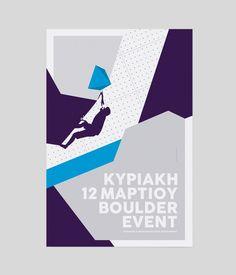 Boulder competition poster design.