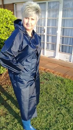 Nylons, Mackintosh Raincoat, Blue Raincoat, Rain Wear, Suits, Jackets, Fashion, Black Raincoat, Hair Makeup