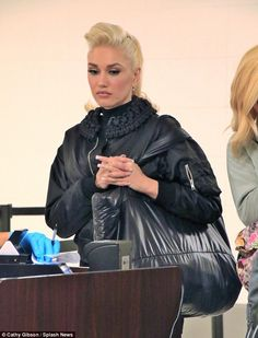 Airport: Gwen Stefani looked thoughtful as she was seen jetting out of LAX no Saturday