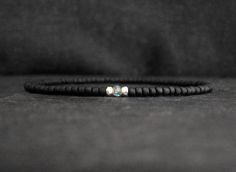 Items similar to ice blue apatite gemstone black matte beaded mens bracelet / stretch bracelet for men / men minimalist bracelet on Etsy Minimalist, Ice, Gemstones, Trending Outfits, Unique Jewelry, Handmade Gifts, Bracelets, Etsy, Vintage
