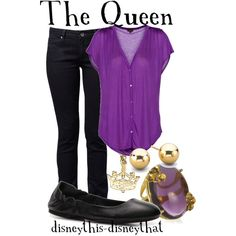 The Queen, created by disneythis-disneythat on Polyvore