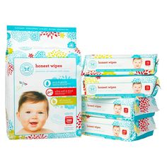 Honest Company Baby Wipes Our absolute favourite. More pricey than the others but you can tell the difference in ingredients. Walmart carries them sometimes and chapters/ Indigo Organic Baby Wipes, Cloth Baby Wipes, Honest Baby Products, Diaper Brands, My Bebe, Newborn Care, Newborn Diapers, Baby Newborn, Shopping