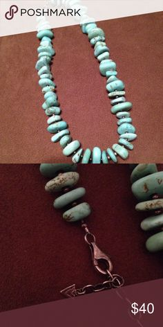 """Silpada turquoise necklace Stunning, retired SILPADA chunky turquoise necklace with Sterling beads in between. 20"""" length with 2"""" extender. Silpada Jewelry Necklaces"""