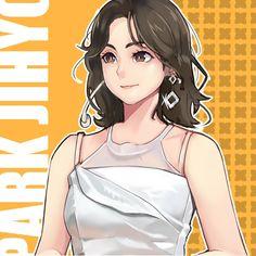 Twice Fanart, Twice Kpop, Hirai Momo, Kpop Fanart, Girl Group, Disney Characters, Fictional Characters, Lisa, Fan Art