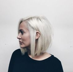 Silver blonde bob by Dominick Serna More