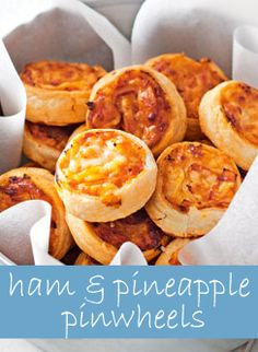 Ham and Pineapple Pinwheels! Delish! And so easy to make…