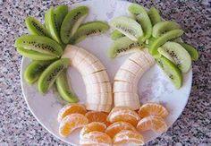 escultura em frutas