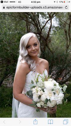 White summer bridal bride bouquet rustic dahlias peonies