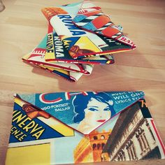 Italian Cityscapes fabric made into the cutest clutch purses for a girly weekend away in Europe!