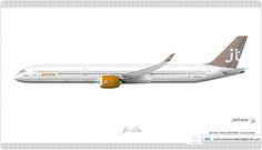 https://flic.kr/p/k9wXLT | Jet Time Livery concept | Jet Time / Airbus A350 1000 / Livery concept