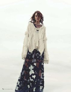 """this latest Tatler UK February 2016 """"Wet and Wild"""" fashion shoot by photographed Chantelle Dosser. Have a look on Bohemian Diesel now Gypsy Style, Hippie Style, Bohemian Style, Boho Chic, Hippie Chic, Knitwear Fashion, Knit Fashion, Boho Fashion, Fashion Design"""