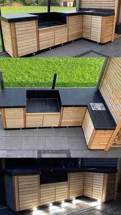 Outdoor Kitchen Plans, Outdoor Kitchen Design, Diy Outdoor Furniture, Outdoor Decor, Outdoor Barbeque, Backyard Patio Designs, Yard Landscaping, Patio Ideas, Outdoor Pergola