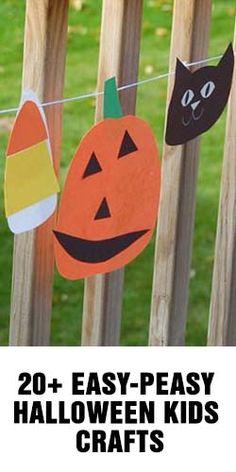 20  Easy-Peasy Halloween Kids Crafts