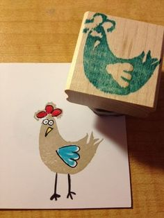 I found this on stampinup.com  This is a sample of a stamp someone carved themselves using the Undefined Kit. How cute is this?! And it is so easy to do, too.