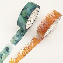 Watercolor+washi+tapes+of+seasons  Quantity:+1+pc+/+2+pcs Size:+15+mm(W)+x+7+m(L)