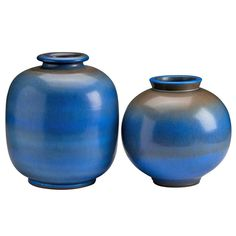 Blue Vases By Berndt Friberg | From a unique collection of antique and modern vases at http://www.1stdibs.com/furniture/dining-entertaining/vases/