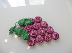 Vintage Trivet Crocheted Grapes by MemphisNanney on Etsy, $6.50