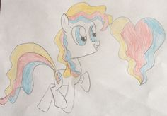 Wavy is a lovely pony who can find good in anything. She  loves to draw and make stuff for people.. 30 bits to w