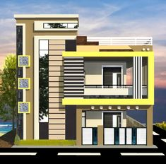 House Outer Design, House Balcony Design, House Front Wall Design, Modern Bungalow House Design, House Main Gates Design, Modern Bungalow Exterior, Modern Exterior House Designs, House Outside Design, Modern Small House Design
