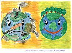 World Environment Day Posters Art Drawings Beautiful, Cool Drawings, World Environment Day Posters, Earth Drawings, 2015 Movies, Grade 1, Social Studies, Charts, Recycling