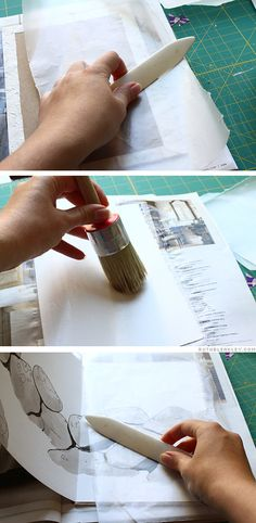 gluing in the accordion - Rock Wall Accordion Book Part 4 by Ruth Bleakley and Chelsea Clarke