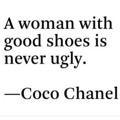 Coco Chanel had some interesting ideas, but this fits the bill! #shoes