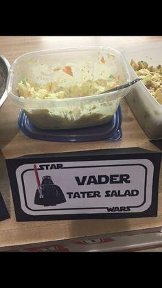 Lego Star Wars Theme Birthday Party Food Vader Tater Salad