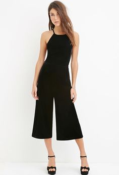 Halter Velveteen Jumpsuit from Forever Saved to romp n jump. Shop more products from Forever 21 on Wanelo. Chic Outfits, Spring Outfits, Forever 21, Shop Forever, Jumpsuit Outfit, Overall, Classic Looks, Jumpsuits For Women, Dress Me Up