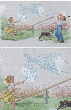 Minna Resnick | Mixed Media Drawing | Children's Illustration