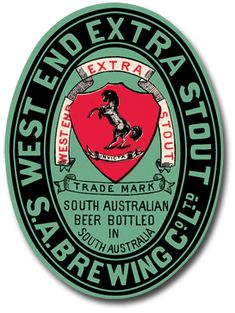 West End Extra Stout Beer Label
