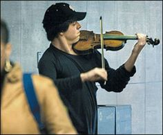 Washington, DC Metro Station, January 2007. The man with a violin played Bach for 45 minutes. During that time about 2000 people went thru the station on their way to work. Only 6 people stopped and listened for a short while. About 20 gave money but continued to walk. The man collected a total of $32. No one knew this, but the violinist was Joshua Bell, one of the greatest musicians in the world. He played one of the most intricate pieces ever written, with a violin worth $3.5 million…