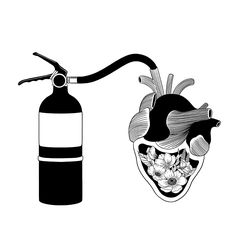 Good Heart, Bad Temper Art Print by Henn Kim
