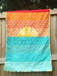 Hey, I found this really awesome Etsy listing at https://www.etsy.com/listing/178617131/crib-size-quilt-sunset-at-sea-girl-or